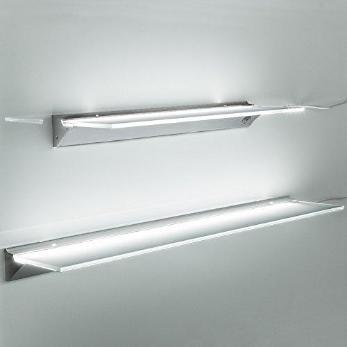 SO-TECH LED Mensola Illuminata SARA Colore Luce Bianco Neutro (4000K) Ripiano Illuminato Lampada...
