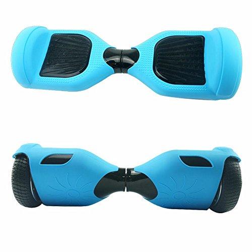 Double EUST, Copertura Protettiva in Silicone per Hoverboard a 2 Ruote da 16,5 cm, Light Blue
