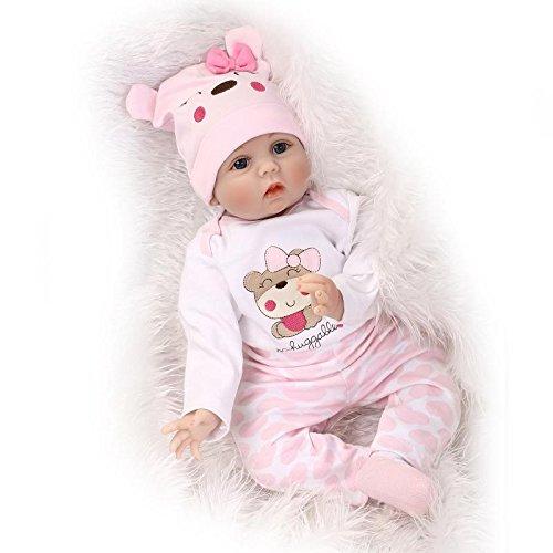 MaiDe Reborn Bambola molle del bambino di simulazione del silicone vinile 22 pollici 55 Centimetri...