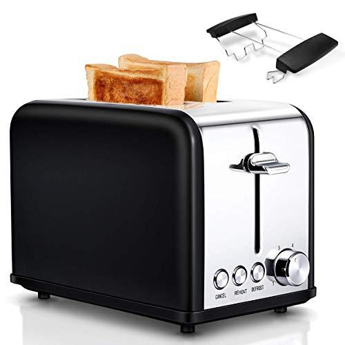 Tostapane per Toast 2 Fette, 6 Livelli di Doratura, 3 Funzioni di sgelare, riscaldamento e...