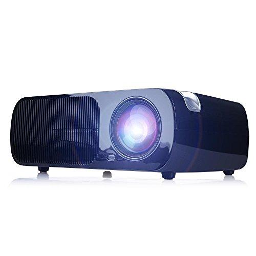 HD del Proyector LED, La Ayuda 1080P, Corrección de Distorsión, Soporte Para HDMI USB VGA Película AV Casa - Teatro, Juegos Para Niños--Negro