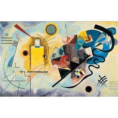 Editions Ricordi 0901N16178-Black Kandinsky Jaune, Rouge Blue Puzzle da 1500Pezzi