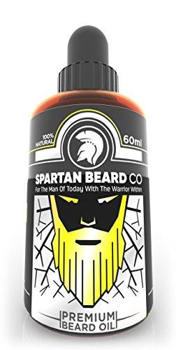 Huile à barbe Spartan Beard Co | 7 huiles essentielles haut de gamme pour la santé de la barbe, du visage et de la peau | Soin et sérum de croissance pour barbe, Rejoignez l'élite des soins pour barbe