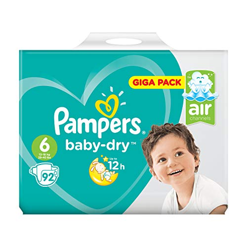 Pacco gigante di Pampers Baby Dry, misura 6, 92 pannolini