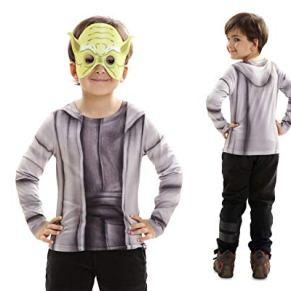 Disfraz Camiseta de Star Wars Yoda Original de Carnaval para niño 6-8 años de Microfibra - LOLAhome
