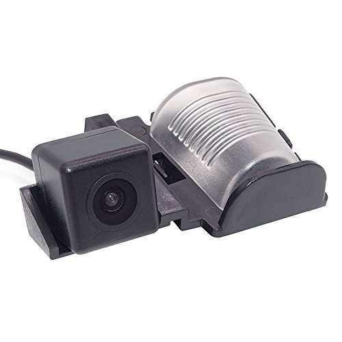 Navinio Colore telecamera di retrovisione con linee di griglia come luce targa, sensore di parcheggio Nero per Sahara / Willys YJ / TJ / JK / J8 Wrangler Rubicon / Sahara / Unlimited Sahara