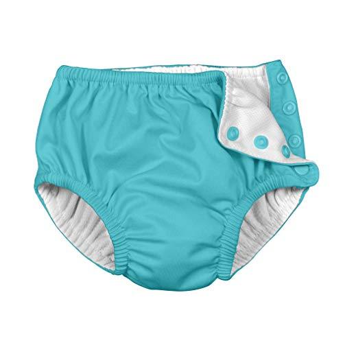 I Play Snap riutilizzabile pannolino costume da bagno, 12m, da 6a 12mesi, Aqua