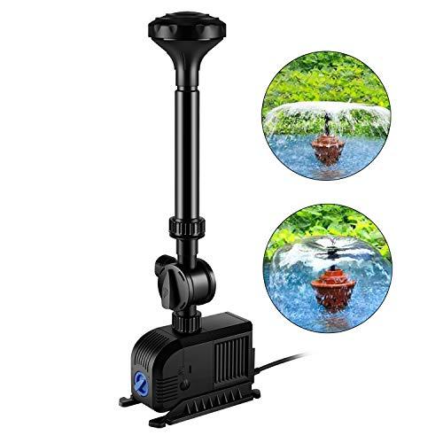 everfarel 3000L/H 55 W Bomba para fuente (Agua Juego Bomba Estanque Bomba Fuente para cualquier Jardín y Estanque Brunnen