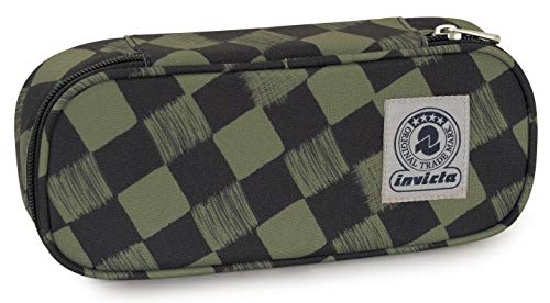 Bustina Round Plus Invicta Twist Eco-Material, Verdone, Scomparto attrezzato porta penne