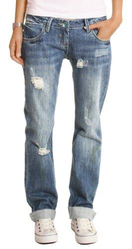 Bestyledberlin Damen Jeans Hosen, Baggyjeans, Damen Boyfriendjeans,...