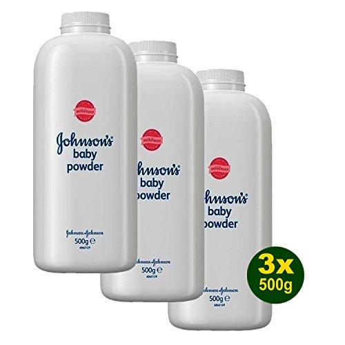 3x Johnson\'s Baby Powder - Baby Puder 500g (1,5kg)
