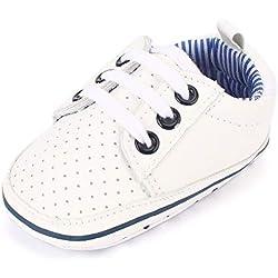 Estamico, chaussures bébé garçon de tennis pour homme Blanc-blanc