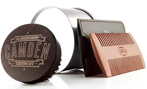 Spazzola e pettine per la barba  Kit di Camden Barbershop Company  per la cura quotidiana della barba  adatto all'applicazione dell'olio da barba