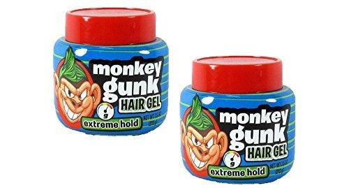 Monkey Gunk Hair Gel Extreme Hold Men s Boys Hair Styling Gel Pomade 2 Pieces