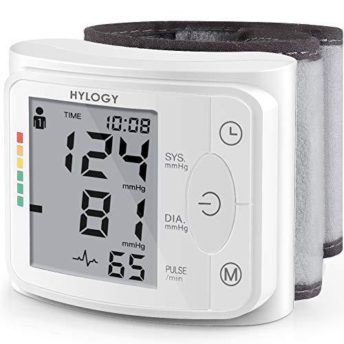 HYLOGY Misuratore di Pressione da Polso, Sfigmomanometro da Polso e Pulsazione Rilevazione, Schermo...