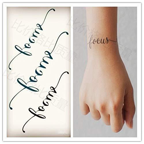 tzxdbh 3Pcs-Impermeabile Autoadesivo del Tatuaggio temporaneo Heartbeat Wave Tattoo Femminile Tattoo...