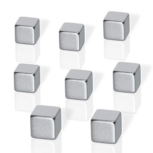 Be!Board B3101 Magneti neodimio per lavagne magnetiche di vetro, a forma di cubo (1 x 1 x 1 cm),...