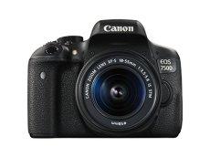 "Canon EOS 750D - Cámara réflex digital de 24.2 MP (Kit con objetivo EF-S 18-55 mm f/3.5-5.6 IS STM, pantalla de 3"", 1080 p, WiFi estabilizador óptico, vídeo Full HD), color negro (importada)"