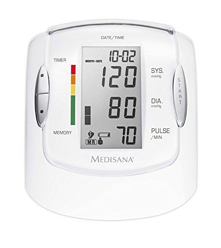 Medisana MTP Pro Misuratore della pressione sanguigna da braccio, scala di colori a semaforo OMS e...