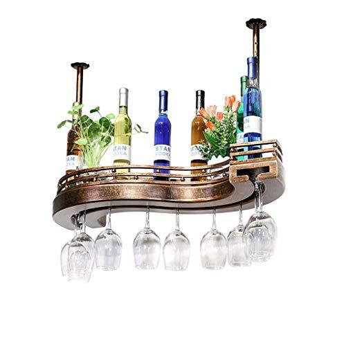 YC electronics Portabottiglie di Vino Calice Rack Bar Bar Hanging Rack Vino Rosso Creativo Americano...