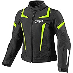 JET Chaqueta Moto Mujer Textil Impermeable con Armadura (4XL (ES 48-50), Fluro)
