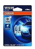 OSRAM 2825HCBI-02B Cool Blue Intense W5W - Lampada alogena per luce di posizione o targa per auto, 12V PKW, blister doppio (2 pezzi)