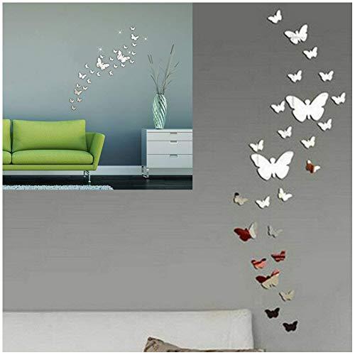 SwirlColor 30PCS Farfalla Combinazione 3D Specchio Wall Stickers Home Decoration