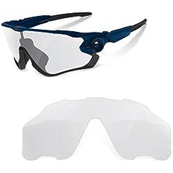 sunglasses restorer Lentes de Recambio Fotocromáticas para Oakley Jawbreaker | Material : Policarbonato de Alta Resistencia al Impacto | Fácil de Montar, sólo Lente.