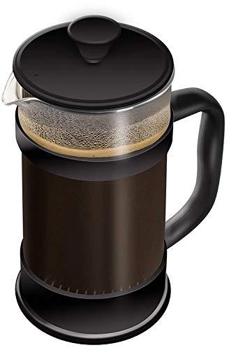Utopia Kitchen - 1 litro / 1000 ml (8 tazze) Caffettiera a presso-filtro (French Press) - Espresso e...