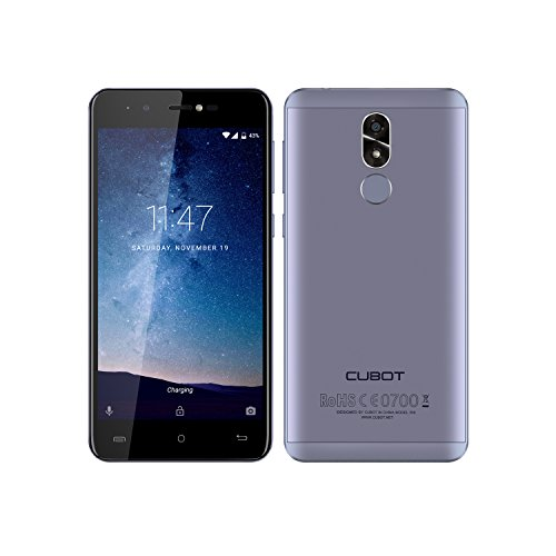 CUBOT R9 - 3G Smartphone, Android 7.0, Pantalla 5.0 pulgadas, MTK6580 Quad Core 1.3GHz, 2GB RAM+16GB ROM, 5MP+13MP Cámara, Huella Dactilar,Cuerpo de Metal, 2600mAh