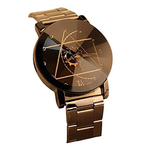 DDLBiz Moda Uomo disegno ago della bussola dell'acciaio inossidabile quarzo analogico orologio da...