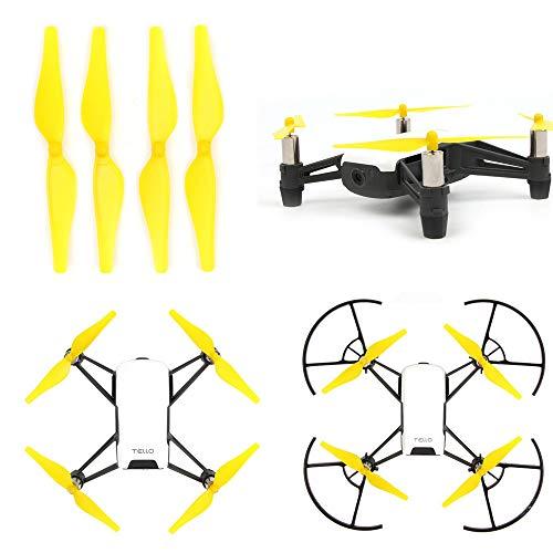 TianranRT Pala colore composito giallo 4 pezzi sgancio rapido/blocco elica CCW CW puntelli lame per...