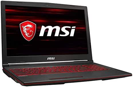 MSI GL63 8SC-020DE (39,6 cm/15,6 Zoll) Gaming-Laptop (Intel Core i7-8750H, 16  GB RAM, 256  GB PCIe SSD + 1 TB HDD, Nvidia GeForce GTX 1650 4  GB, Windows 10 Home)