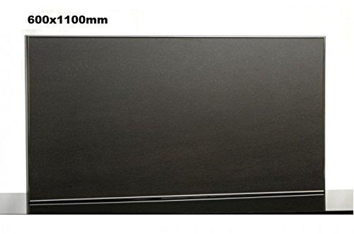 Riscaldamento a infrarossi lavagna 600 x 1100 mm con bordo in alluminio e supporto a parete di Therm...
