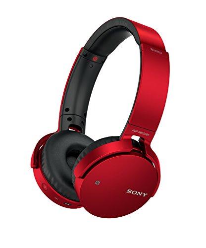Sony MDR-XB650BT - Auriculares inalámbricos (Extra Bass, Bluetooth, NFC, diseño Plegable, hasta 30 Horas de autonomía), Color Rojo