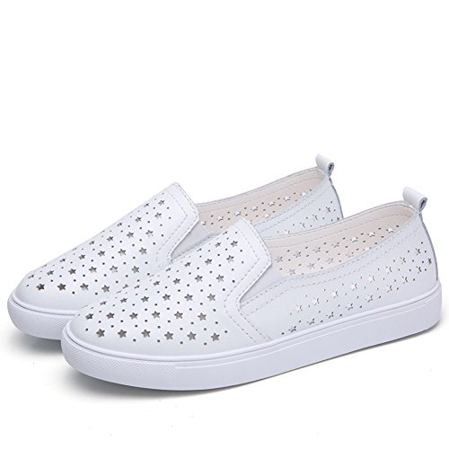 a27640328a3 HKR Summer Women Loafers Slip On Sneakers Comfort Ladies Leather Work  Driving Flats Shoes