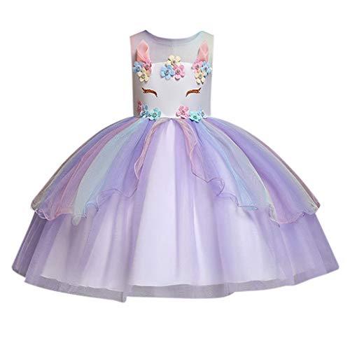 Luckycat Vestidos de Fiesta para Niñas Elegantes Lentejuelas Vestido Niña Vestido de Flores Sin Mangas Tutú Princesa Vestido Bebé Niña Ropa Niña Vestido Bebe Niña Bautizo Boda Ceremonia