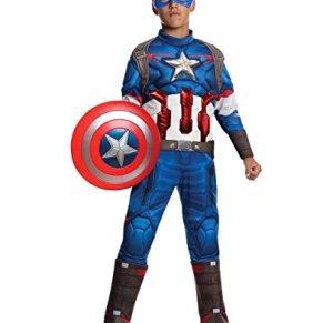 Rubies Disfraz infantil de Capitán América en Los Vengadores: La Era de Ultrón. Talla L (8-10 años, 1,46-1,52 m de altura)