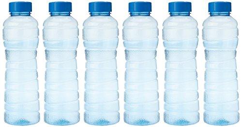Princeware Victoria PET Fridge Bottle, 975 ml, Blue, Set of 6
