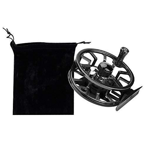 Dioche Mulinello per Pesca a Mosca, Sostituzione della Bobina per Pesca in Mare con la Mano Sinistra in Metallo Pieno e Leggero(95mm-Nero)