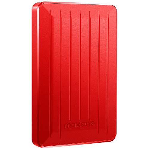 Maxone 6,3 cm hard disk esterno portatile per laptop/desktop/Xbox One/PS4 (250GB) (250GB, Red)