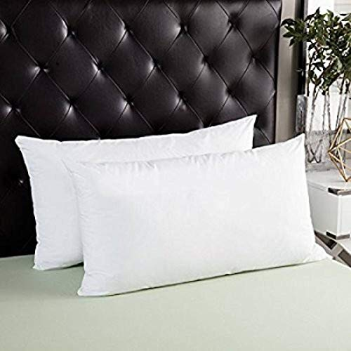 "CLASORA Reliance Fibre Filled 2 Piece Pillow Set - 61"" x 41"", Antique White"