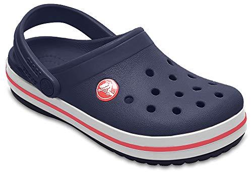 Crocs Crocband Clog K, Scarpe da Spiaggia e Piscina Unisex-Bambini, Blu (Navy/Red), 30/31 EU