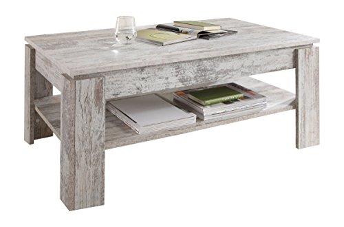 Trendteam Smart Living, 1100112, Tavolino da salotto, Grigio (Grigio/Bianco), 110 x 47 x 65 cm