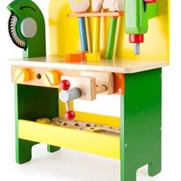 """1538 Banco da lavoro """"Christian"""" small foot in legno, giocattoli in legno incl. viti, da"""