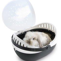 katzeninfo24.de Nobby 81059 Transportbox für kleine Hunde und Katzen Nager Elmo large, 36 x 28 x 22 cm