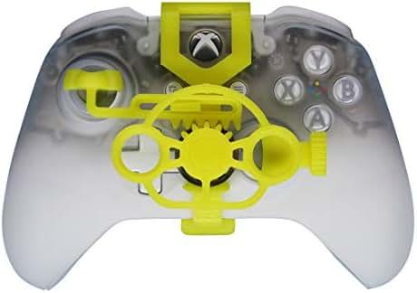 Xbox One Gaming Racing Wheel (verbessert), 3D bedrucktes Mini-Lenkrad für Xbox One X/Xbox One S/Elite Controller gelb