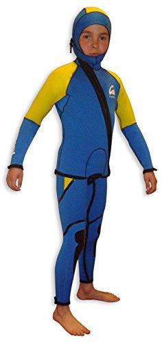 Kynay - Traje de descenso de barrancos kynay para niños, talla c6, color azul y amarillo.