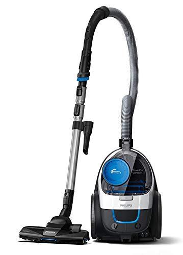Philips FC9332/09 Aspirateur sans Sac PowerPro Compact, 650W, Capacité de Poussière 1,5L, Suceur Plat Intégré, Blanc