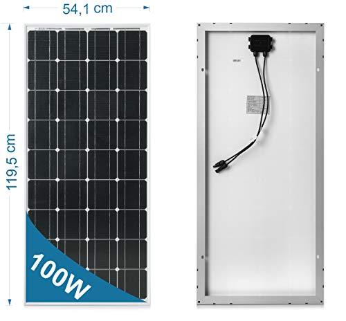 100 Watt 12 Volt Monocristalino de panel solar